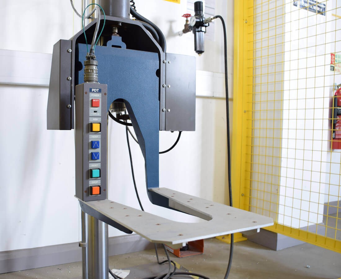Drop testing machinery