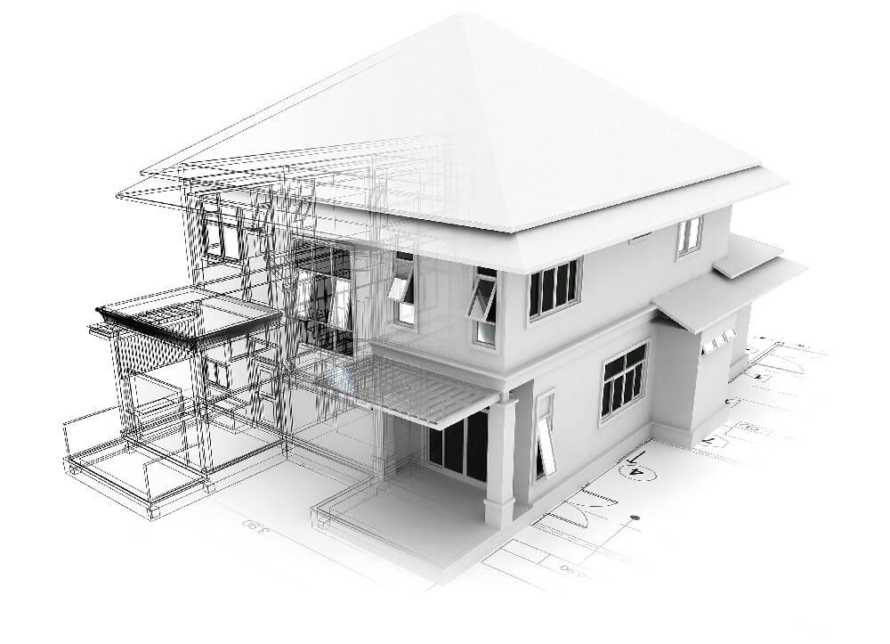 House CAD render